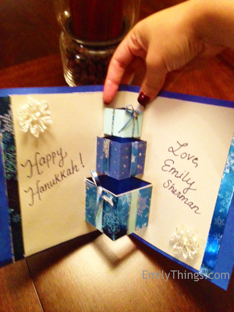 Pop up hanukkah card
