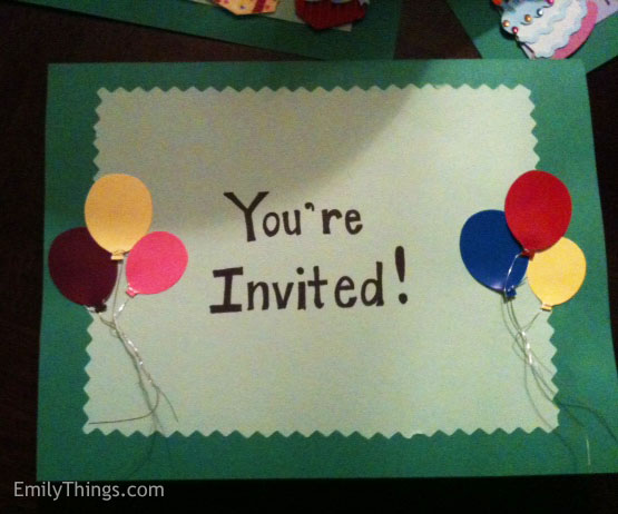 Pop Up Birthday Party Invitation
