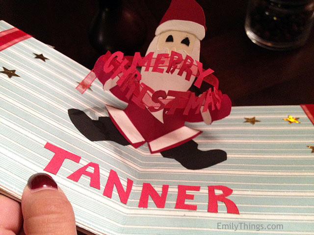 Santa Pop Up Card