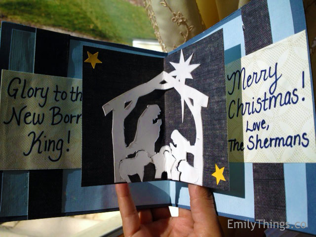 Pop up Nativity Scene Card