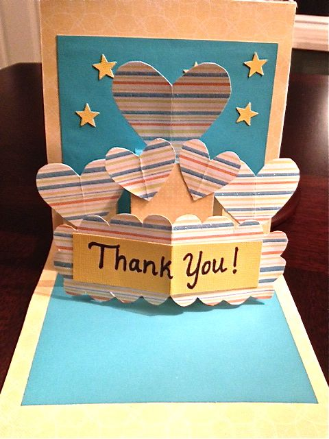 Pop Up Thank You Card