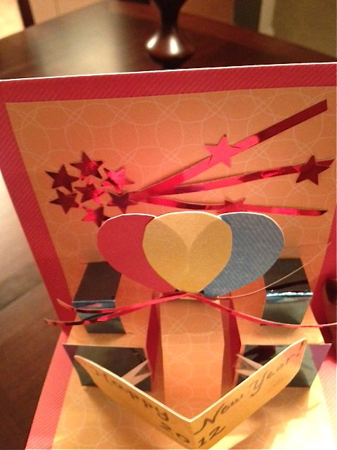 New Year 2012 Pop Up Card