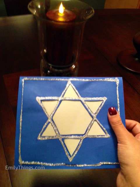 Star of David Hanukkah Card