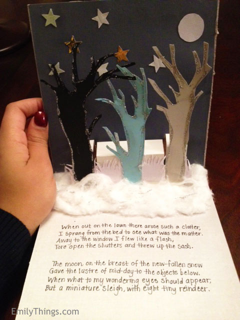Pop Up Winter Trees
