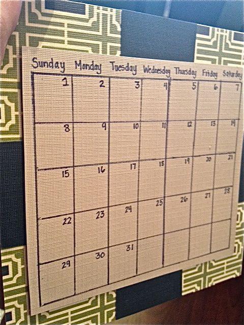 DIY January 2012 calendar
