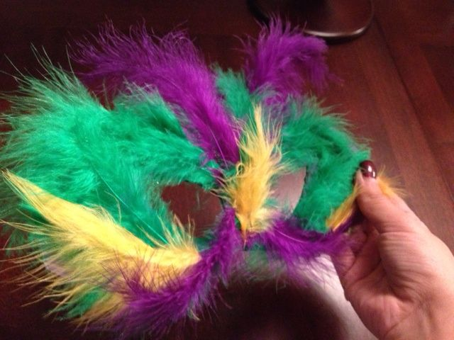Mardi Gras Mask DIY Feather Cheap Handmade