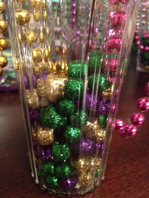 Mardi Gras Centerpieces DIY