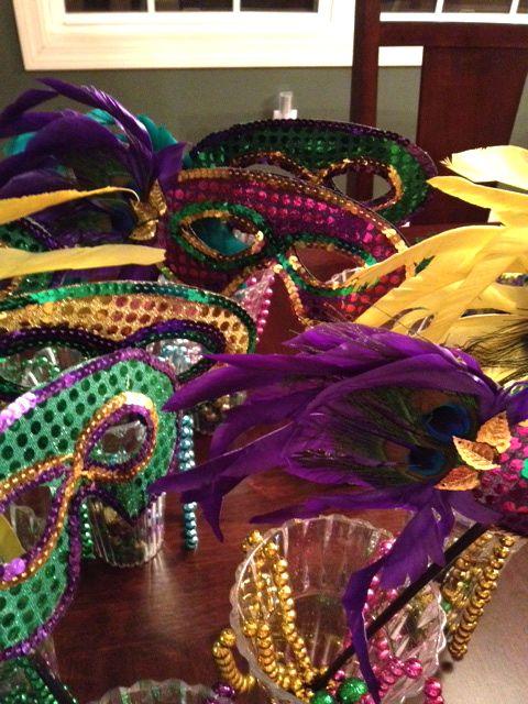 Mardi Gras Handmade Masks DIY