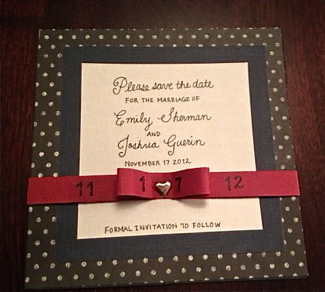 save the date card DIY