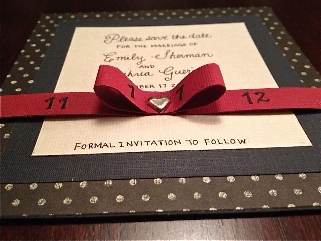 Diy save the date cards emilys enchantments save the date card diy card making junglespirit Images