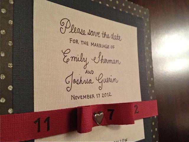 Save the Date DIY wedding