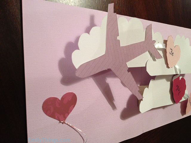 Valentine Pop Up Card Handmade Hearts
