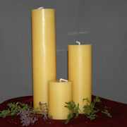 beeswax candles DIY green wedding