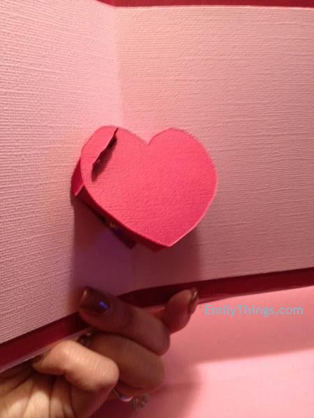 Pop Up Valentine Card Handmade DIY How to Make a Pop Up Card