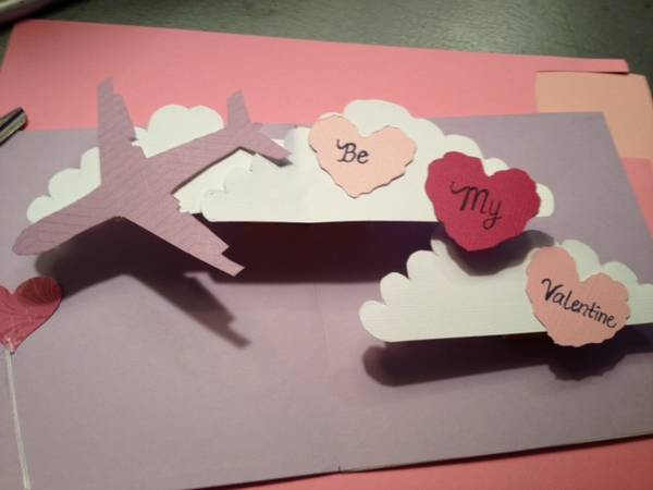 Well-liked Pop Up Card Tutorial: How to Make Valentine's Day Airplane w/Heart  MG59