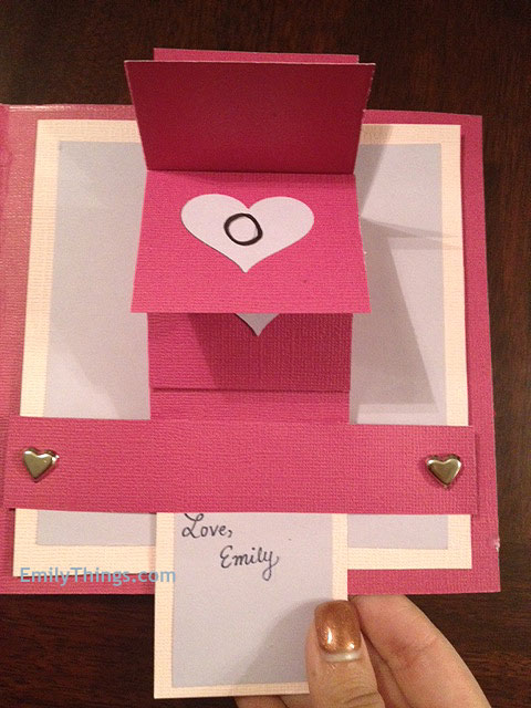 Valentine Pop Up Card DIY Handmade