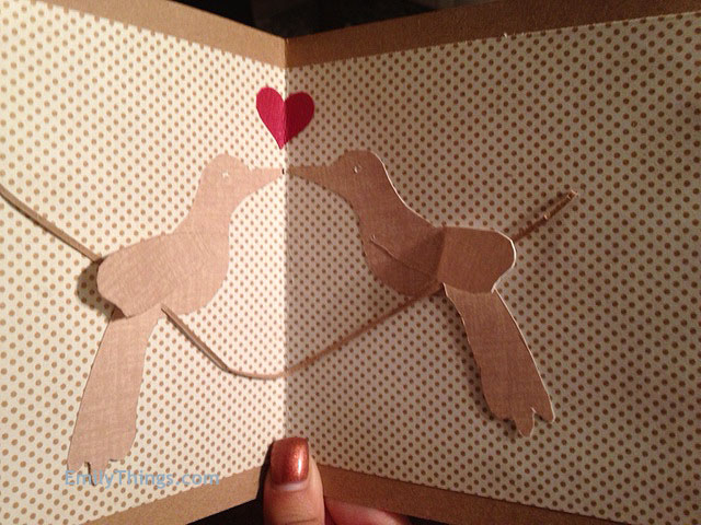 Valentine Recycled Paper Craft Card