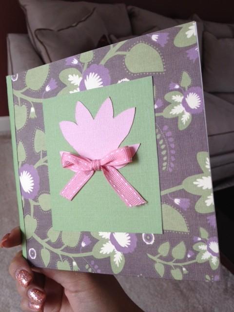 handmade pop up flower card spring
