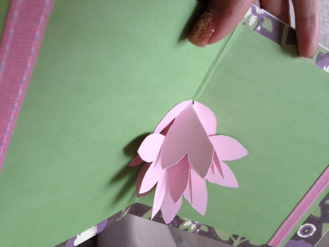 Pop up card emilys enchantments pop up flower card pink spring flower handmade mightylinksfo