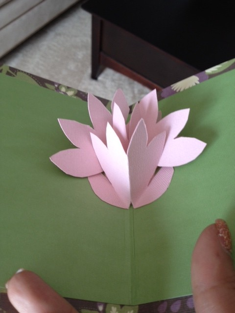 pop up card handmade paper flower