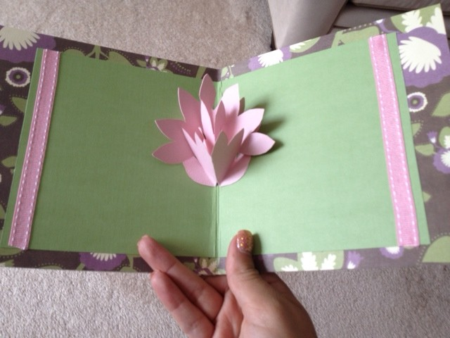 Pop up card spring flower emilys enchantments pop up card handmade paper flower mightylinksfo