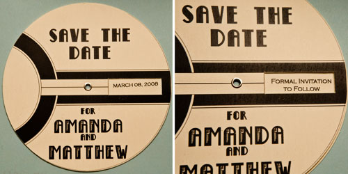 spin wheel unique save the date idea