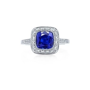 tiffany sapphire with diamonds