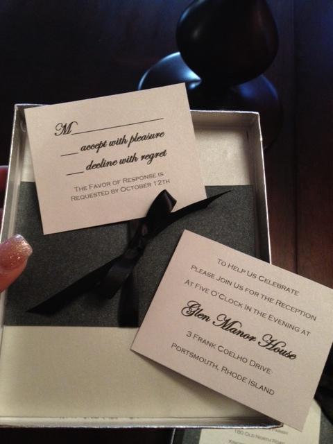 DIY boxed wedding invitation couture handmade elegant