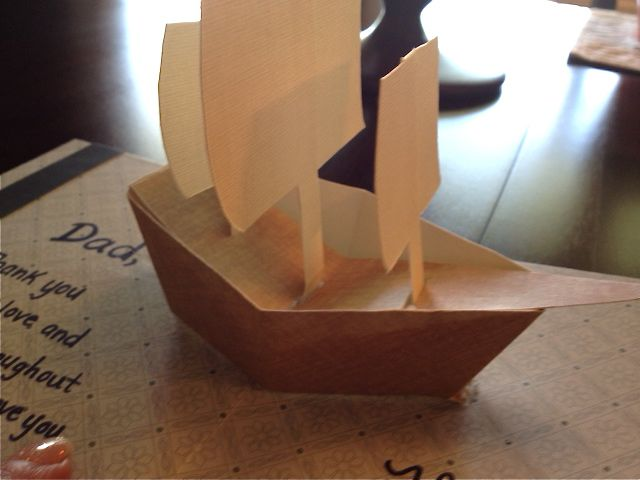 fathers day pop up card pop up boat