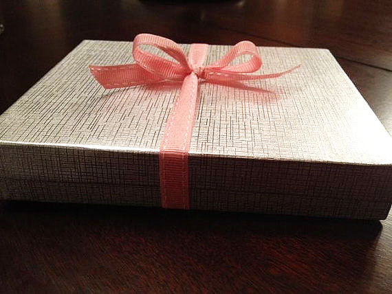Glamorous wedding emilys enchantments pink and white boxed wedding invitations formal stopboris Images