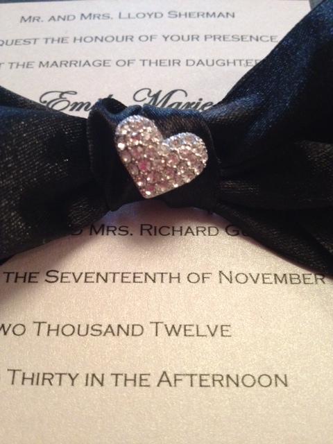 boxed wedding invitation diy formal wedding invitation silver black white heart