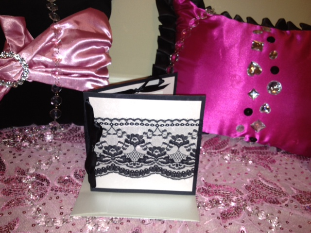french bridal shower invitations pink black lace marie antoinette