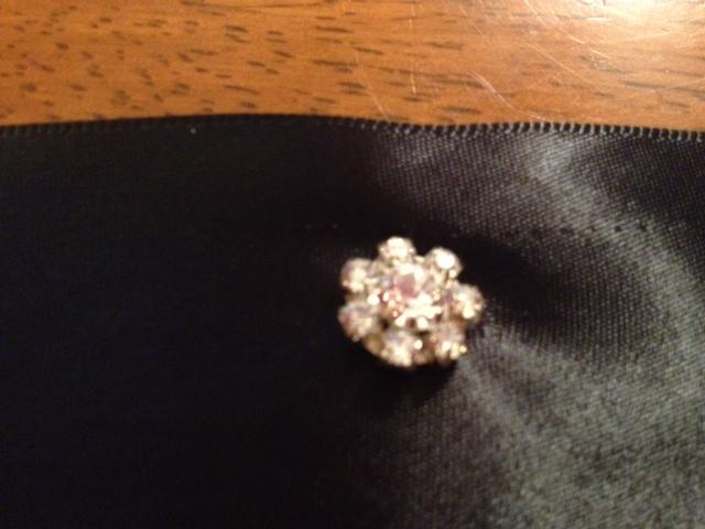 Rhinestone DIY Wedding Invitations Black White Silver Bow Elegant Formal Invitations