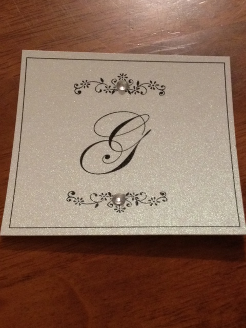 DIY monogram rhinestone ribbon buckle boxed wedding invitations black tie