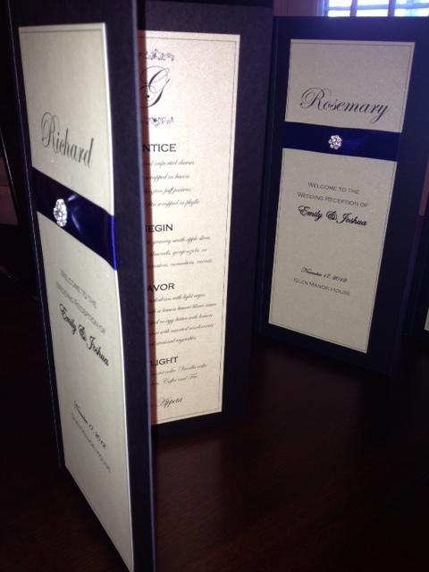 formal menus