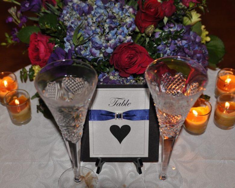 wedding table numbers table names elegant