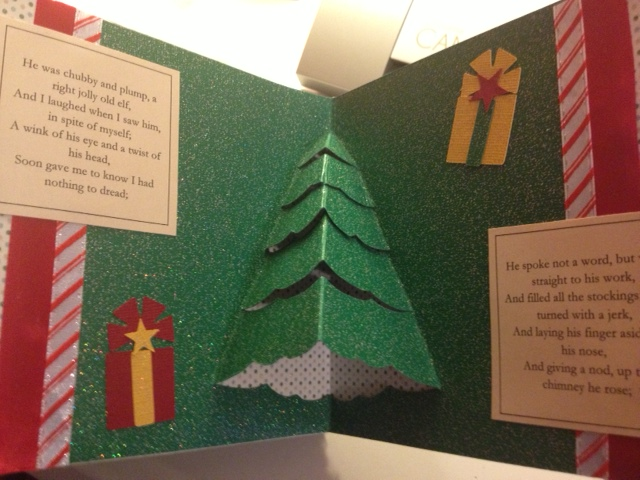 christmas pop up book twas the night pop up christmas tree