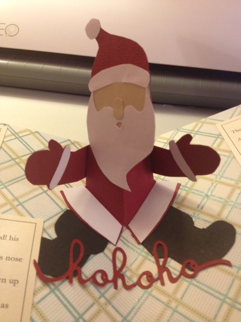 christmas pop up book twas the night pop up santa