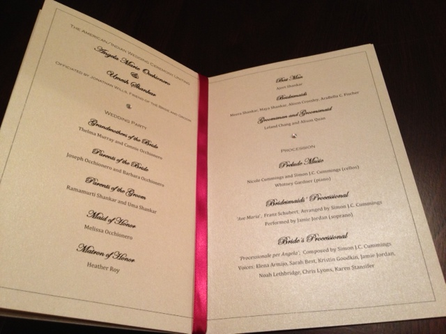 Gold Red Luxury Elegant Wedding Programs Invitations Indian