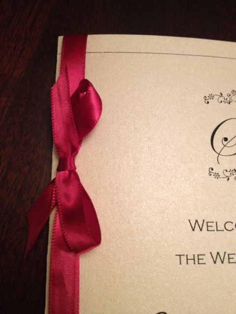 Indian Wedding Programs Invitations Black Tie Gold Elegant Wedding