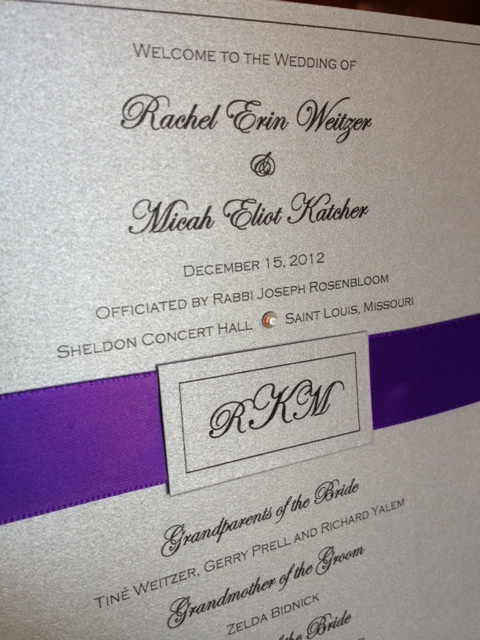 Silver Plum Wedding Programs
