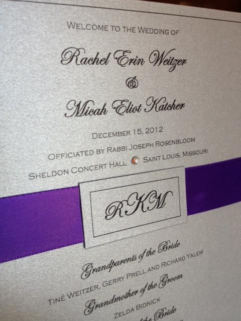 Silver Plum Wedding Programs