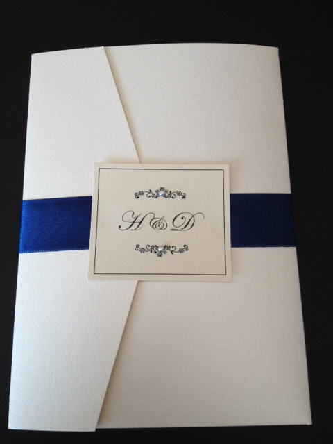 wedding invitation elegant luxurious formal gold navy unique