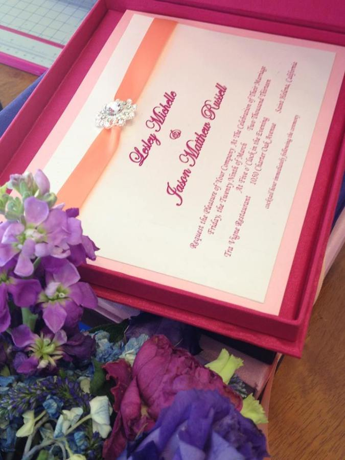 wedding invitations Rhode Island hot pink coral lace wedding invitations boxed orange pink wedding