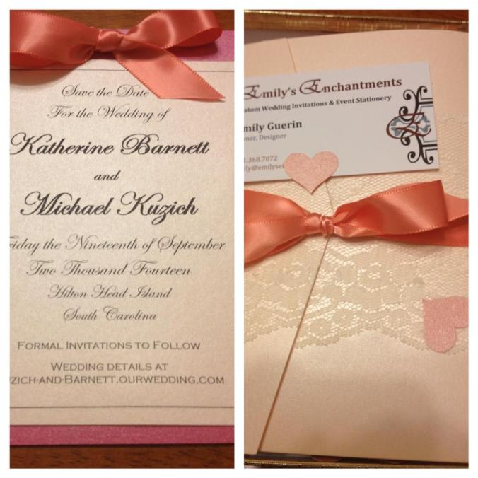 Wedding Invitations Rhode Island Hot Pink Coral Lace