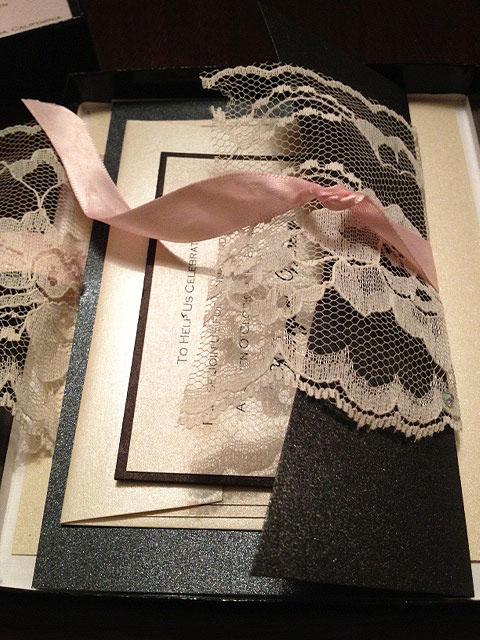 rhode island wedding invitation lace invitations ri pink coral