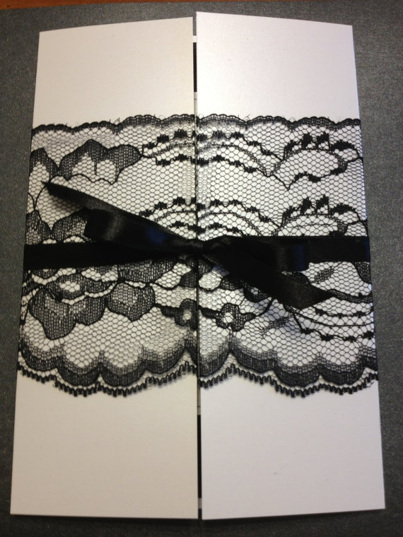 lace wedding invitations rhode island elegant black white cream