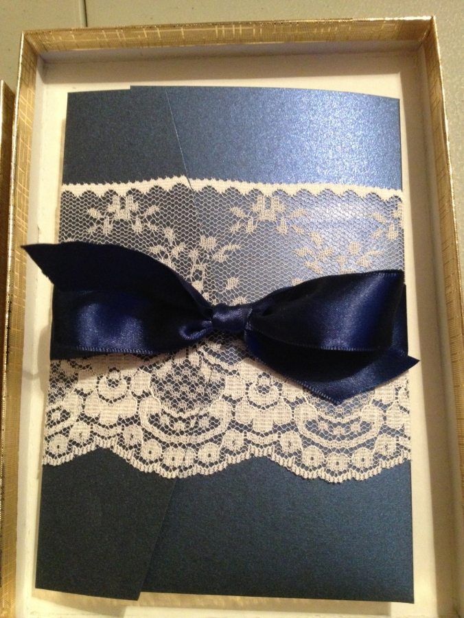 lace white navy cream elegant wedding invitations rhode island invitation pocketfold lace wrapped invitations unique ri invitations