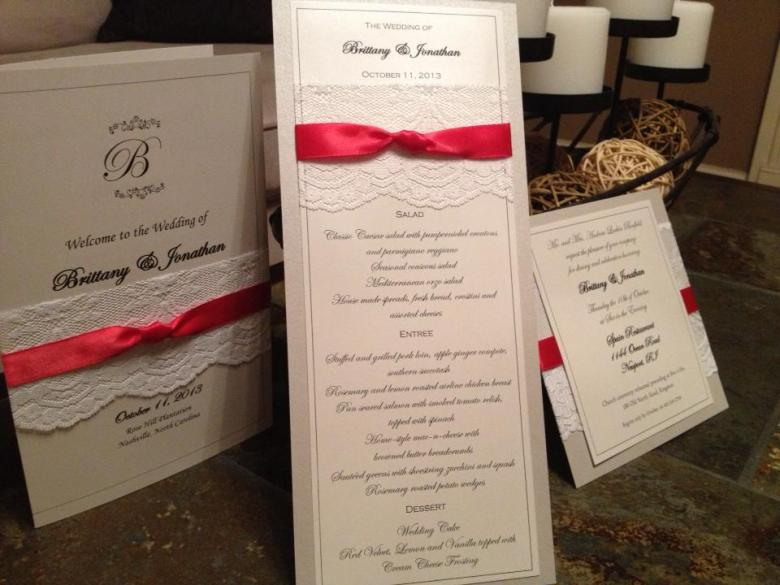 weddingmenucardlacerhodeislandinvitationsRI